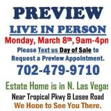 PREVIEW MONDAY, MARCH 8TH, 9AM TO 4PM