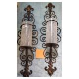 11 - STUNNING PAIR OF CANDLE HOLDERS
