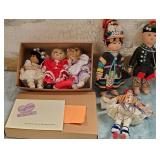 11 - LOT OF 6 COLLECTABLE DOLLS - SEE PICS