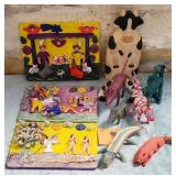 11 - LOT OF COLORFUL ART & ANIMALS