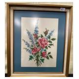 11 - FRAMED ART OF BEAUTIFUL FLOWERS