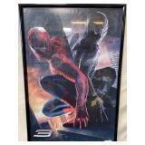 11 - FRAMED SPIDERMAN WALL ART 36 X 23