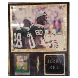 11 - SIGNED JERRY RICE WALL PLACQUE W/COA