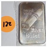 1OZ .999 FINE SILVER BAR (122)