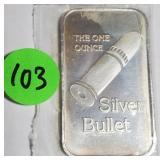 1OZ .999 FINE SILVER BAR (103)