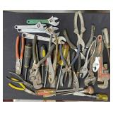 163 - LARGE LOT OF WRENCHES, PLIERS, & MORE (5)