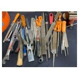 163 - LARGE LOT OF FILES, WRENCHES & TOOLS (B)