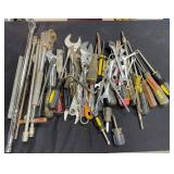 163 - ARGE LOT OF WRENCHES & TOOLS (7)