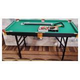 82 - MINIATURE POOL TABLE W/ACCESSORIES BRAND NEW