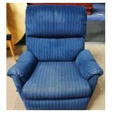 11 - WELL LOVED BLUE RECLINER