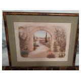 11 -  FRAMED PATH TO THE DESERT WALL DECOR