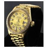 18kt Gold Ladies Presidential Rolex Watch