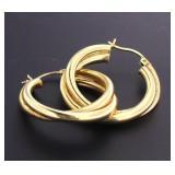 14kt Gold 30.5 mm Hoop Earrings