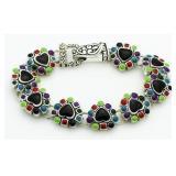 Large Enameled Fashion Bracelet