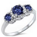 Past Present Future 2.00 ct Sapphire Ring