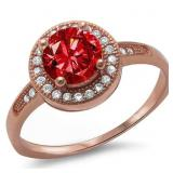 Rose Gold Ruby Solitaire Ring