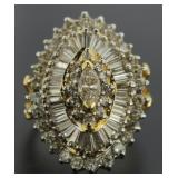 14kt Gold 4.00 ct Marquise Cut Diamond Ring