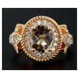 Oval 2.30 ct Natural Pink Obsidian Dinner Ring