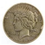 1934 Peace Silver Dollar *KEY Date