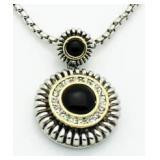 Black & White Medallion Style Pendant