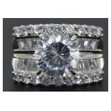 Round Brilliant 5.50 ct White Topaz Designer Ring