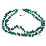Genuine Turquoise Large Fashion Necklace