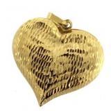 14kt Gold Large Heart Pendant