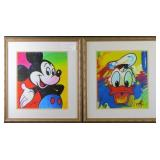 Mickey Mouse & Donald Duck Giclee by Peter Max