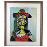 Woman In Fur Hat by Pablo Picasso