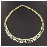 """14kt Gold 18.5"""" Two Tone Designer Necklace"""