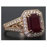 14kt Gold 4.94 ct Ruby & Diamond Ring