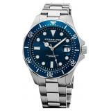 Stuhrling Original Regatta Mens Blue Dial SS Watch