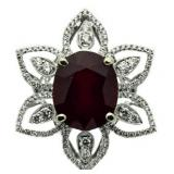 14kt Gold Incredible 16.89 ct Ruby & Diamond Ring