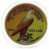 1922 Painted Silver Peace Dollar