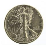 1943-D Walking Liberty Half Dollar