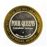 Four Queens Casino .999 Fine Silver Game Token