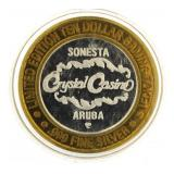 Crystal Casino  .999 Fine Silver Game Token