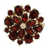 10kt Gold Vintage 4.80 ct Garnet Cocktail Ring