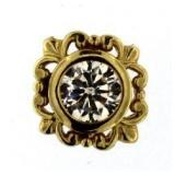 14kt Gold Bezel Set 1.00 ct White Topaz Pendant