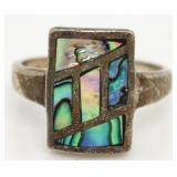 Stunning Abalone Estate Ring