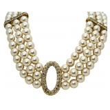 Image - XL Pearl Fashion Necklace & Earrings