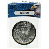 2005 MS69 First Strike American Eagle Silver Dolla