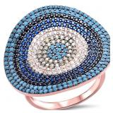 Beaded Turquoise Designer Ring