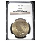 1923 MS64 Peace Silver Dollar