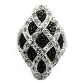 Genuine 1.00 ct Black Diamond Designer Ring