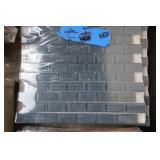 4 sq ft of blue grey glass mosaic tile