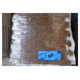 6 sq ft brown mosaic glass tile