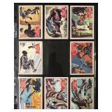 1966 Topps Batman Red Bat Partial Set & Reprints
