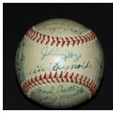 1952 Worlds Champions Yankees Team Ball Signed.