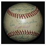 1954 World Champions Giants Ball PSA.
